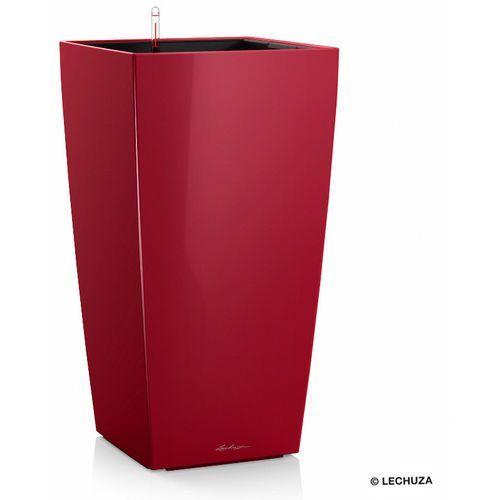 Donica  CUBICO - scarlet red - 22 x 22 x 41 cm, połysk - scarlet red, produkt marki Lechuza