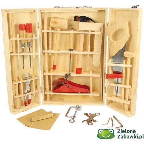 walizka z narzędziami, 28 części, BJ410- - mały majsterkowicz, Bigjigs Toys z ZieloneZabawki.pl