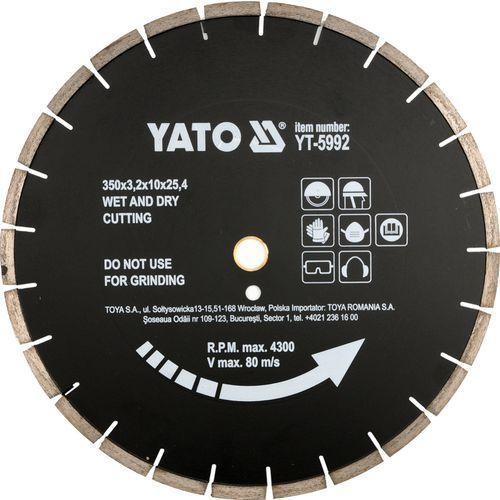 Oferta Tarcza diamentowa do asfaltu 350x25.4 mm YT-5992