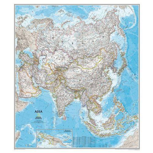 Azja i Bliski Wschód. Mapa ścienna polityczna Classic magnetyczna w ramie 1:13,8 mln wyd. , produkt marki National Geographic