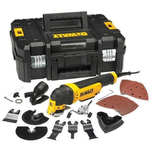 Produkt DEWALT Oscylacyjne narzędzie wielofunkcyjne 300 W + akcesoria i kufer DWE315