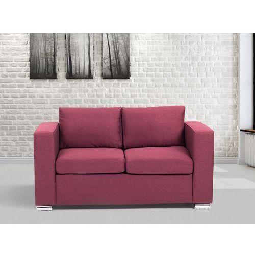 Sofa burgundowa - dwuosobowa - kanapa - sofa tapicerowana - HELSINKI, Beliani