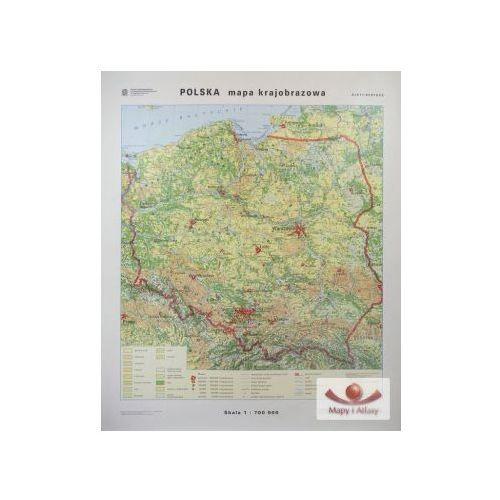Polska. Mapa krajobrazowa / konturowa. Mapa ścienna Polski, produkt marki Nowa Era