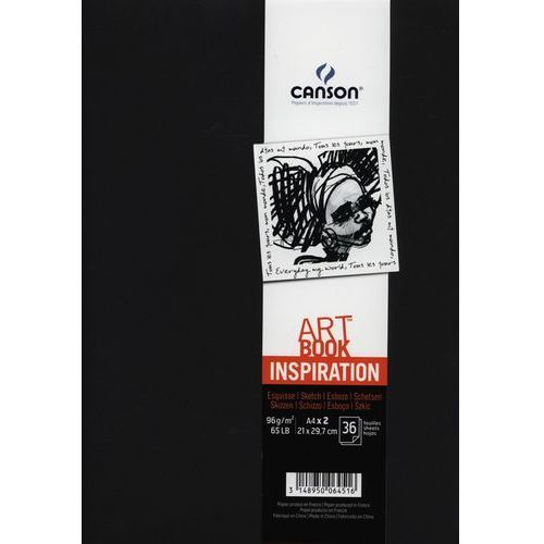 Szkicownik A4 Canson Artbook Inspiration 2x36 kartek czarny - oferta [258f4e7777c575ae]