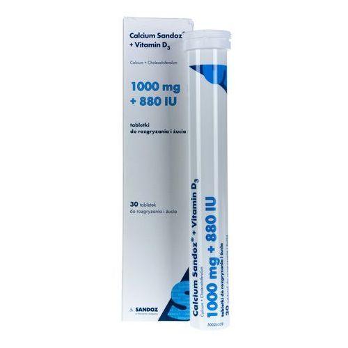 Calcium Sandoz + Vitamin D3 30 tabletek do rozgryzania i żucia, postać leku: tabletki