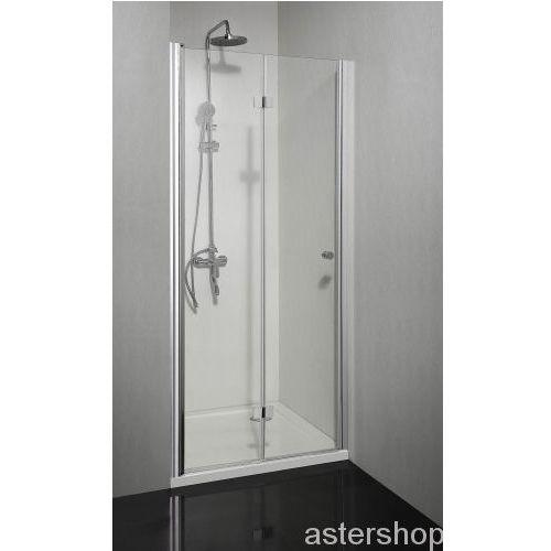 SMARTFLEX drzwi prysznicowe składane do wnęki lewe 80x195cm D1280FL (drzwi prysznicowe)