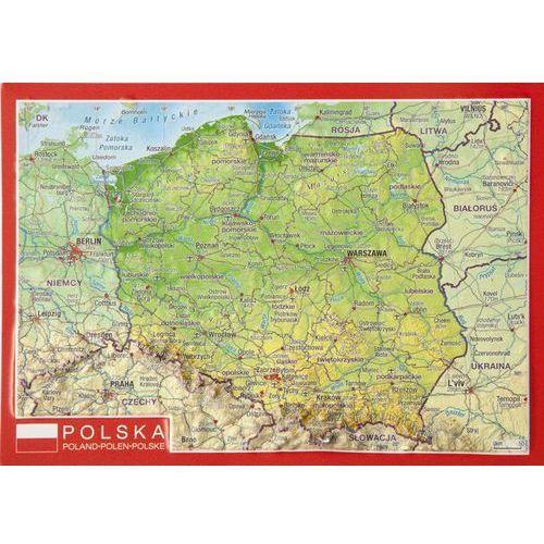 Pocztówka Polska mapa plastyczna, produkt marki Georelief GbR