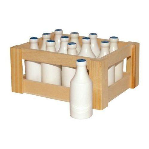 Butelka mleka z drewna (12 sztuk) - zabawka dla dzieci oferta ze sklepu www.epinokio.pl