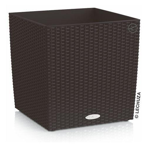 Donica Lechuza Cube Cottage czarna, produkt marki Produkty marki Lechuza