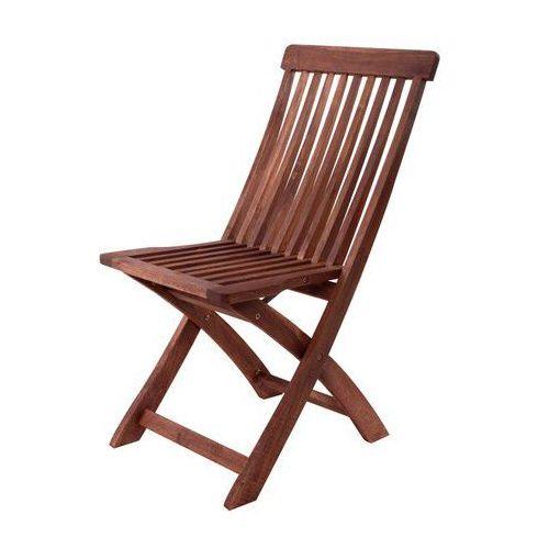Happy Green Krzesło drewniane składane - akacja ze sklepu Mall.pl