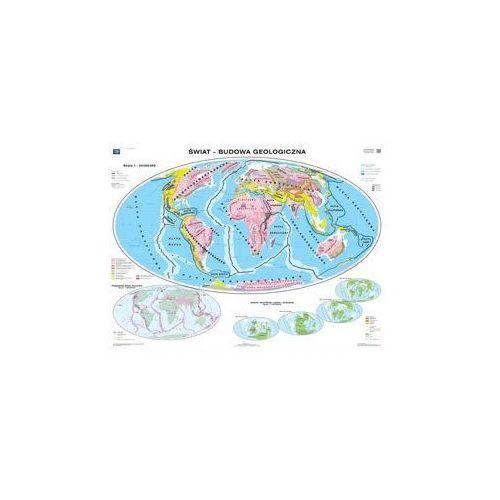 Produkt Świat. Budowa geologiczna / Wielkie formy ukształtowania powierzchni. Mapa ścienna świata, marki Nowa Era