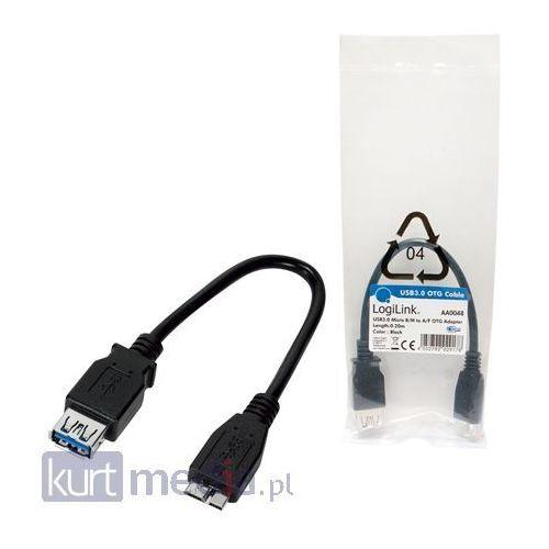 Kabel USB LogiLink 3.0 OTG dla tabletów (AA0048) Darmowy odbiór w 15 miastach!, kup u jednego z partnerów