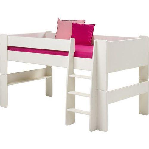 Łóżko piętrowe niskie Steens for kids - biały mdf ze sklepu Meble Pumo