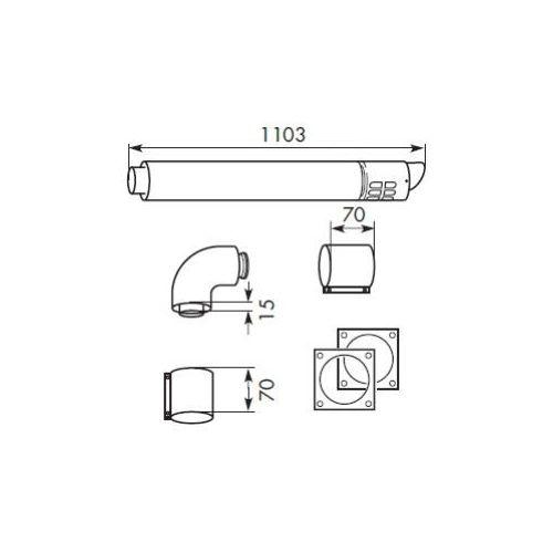 Oferta Vaillant Poziome wyprowadzenie powietrzno - spalinowe (80/125), PP z kat.: ogrzewanie