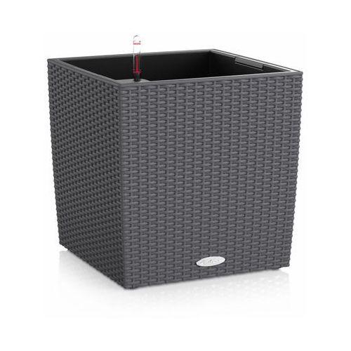 Donica  CUBE COTTAGE 2012 - granitowa - 50 cm - all inclusive - Granit, produkt marki Lechuza