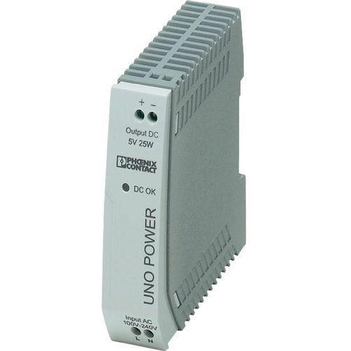 Zasilacz na szynę DIN Phoenix Contact UNO-PS/ 1AC/ 5DC/25 W 2904374 5 A z kategorii Transformatory