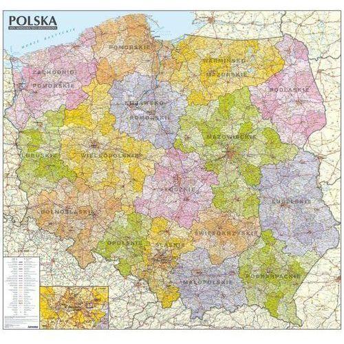 Polska mapa administracyjno-samochodowa 1:570 000 Tuba od SELKAR