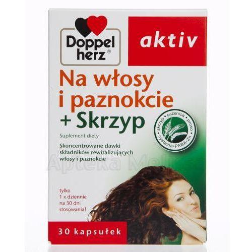 Produkt z kategorii- pozostałe kosmetyki do włosów - DOPPELHERZ AKTIV Na włosy i paznokcie + skrzyp - 30 kaps.