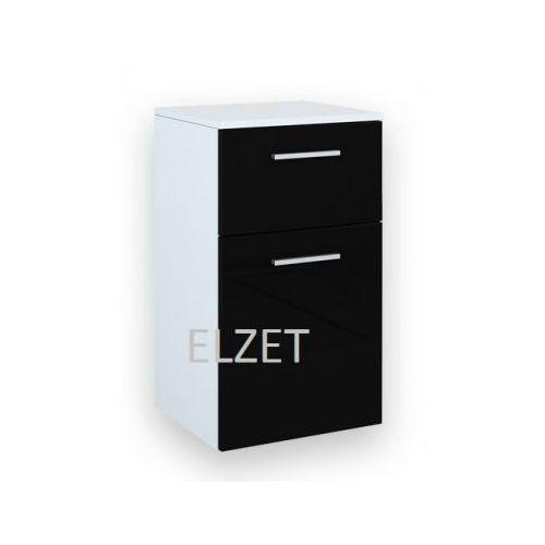 Produkt z kategorii- regały łazienkowe - ELITA Kwadro Black komoda (półsłupek) 163028