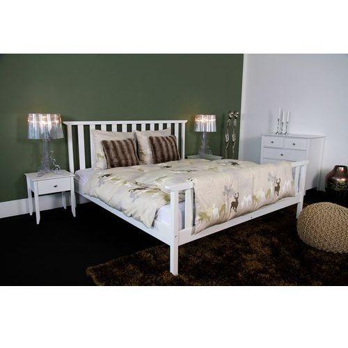 Łóżko Berg 180x200 cm, biały, mdf ze sklepu FUTURI Nowoczesne Meble