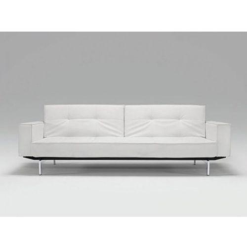 Sofa Splitback z podłokietnikami biała 588 nogi chromowane  741010020588-741010020-0-2, INNOVATION iStyle