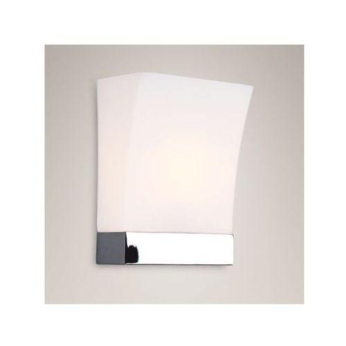 Szklana LAMPA ścienna OPRAWA kinkiet DO łazienki HALL  W0078 chrom biały, produkt marki Maxlight
