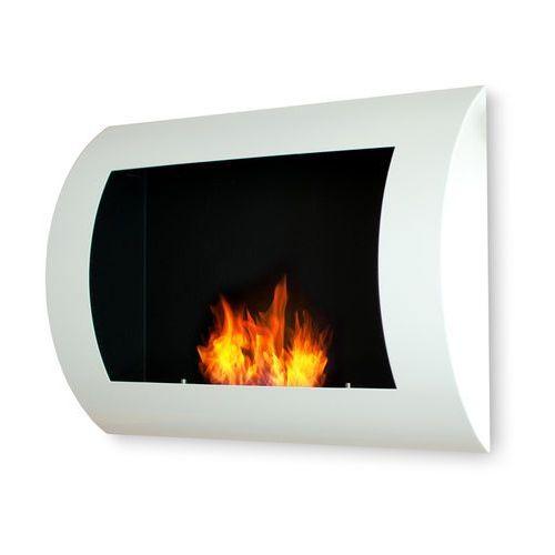 Biokominek dekoracyjny 60x45 cm biały Convex by EcoFire - oferta [b5f5d0a7efa3c284]