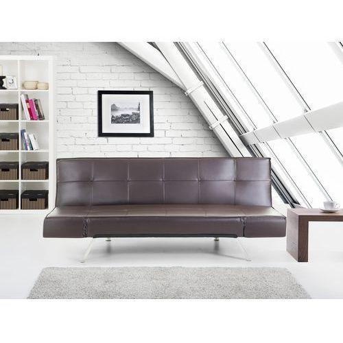 Rozkladana sofa kolor brazowy ruchome podlokietniki BRISTOL, Beliani