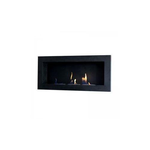 Biokominek dekoracyjny prostokątny 90x40 czarny Flat - oferta [05f7ea0721b2b5ac]