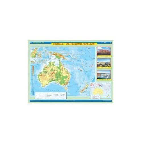 Australia. Mapa ścienna Australii. Ukształtowanie powierzchni / Krajobrazy, produkt marki Nowa Era