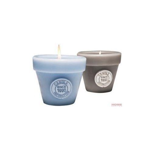 Produkt Świeca duża -  - Doniczka - niebieska, marki Kare Design