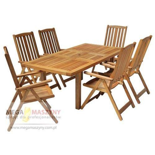 HECHT Zestaw mebli ogrodowych stół + 6 krzeseł Rectangle Set od Megamaszyny - sprzęt dla profesjonalistów