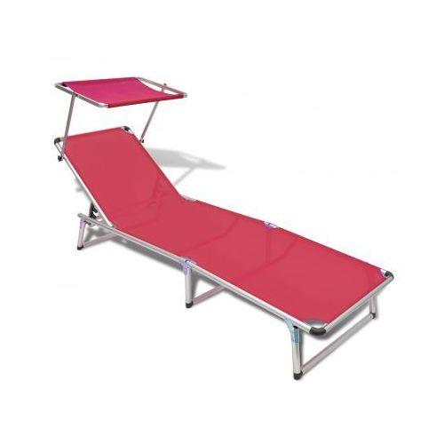 Leżak z aluminiową ramą oraz czerwonym materiałem - produkt dostępny w VidaXL