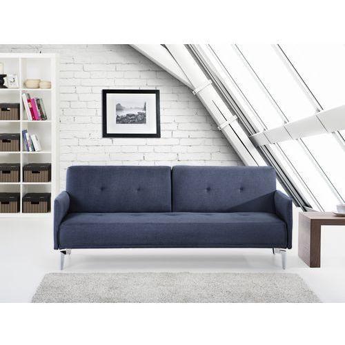 Sofa do spania - kanapa rozkladana - ciemnoniebieska - Lucan, Beliani