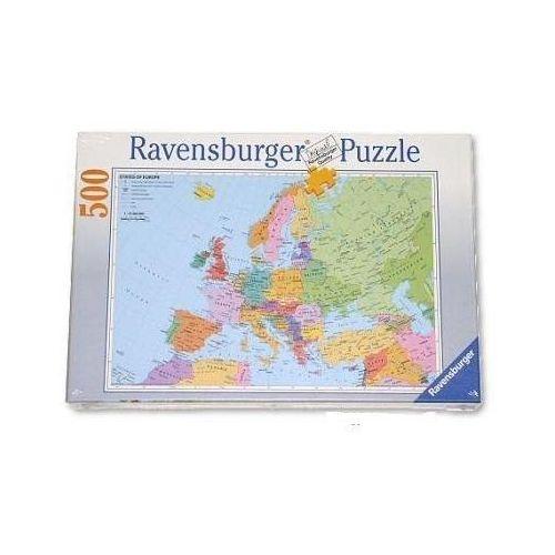 Puzzle edukacyjne Mapa polityczna Europy 500 elementów, produkt marki AB spółka akcyjna