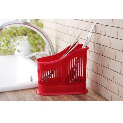 Plastikowy ociekacz dwukomorowy DOMOTTI RED 18 x 8 cm - rabat 10 zł na pierwsze zakupy! - produkt z kategorii- suszarki do naczyń