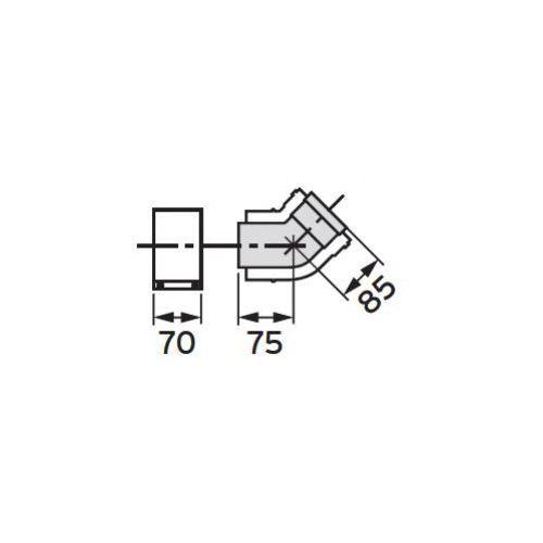 Oferta Vaillant Kolanko koncentryczne 45° (60/100) (2 sztuki), PP z kat.: ogrzewanie