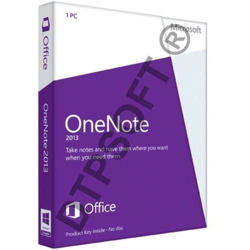 Microsoft OneNote 2013 32-bit/x64 PL Win ESD - produkt z kategorii- Pozostałe oprogramowanie