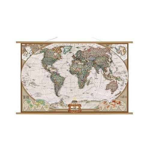 Świat. Mapa ścienna polityczna Executive 1:24 mln wyd. , produkt marki National Geographic