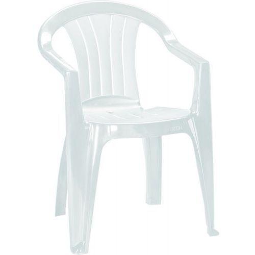 CURVER Krzesło ogrodowe SICILIA, 56x58x79cm, białe, 137185 ze sklepu Avionpark