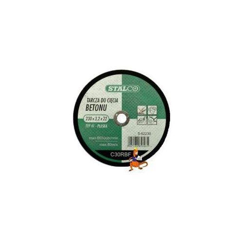 Oferta TARCZA DO CIĘCIA BETONU PŁASKA 230x3, 0x22MM FIRMA STALCO (S-62230)