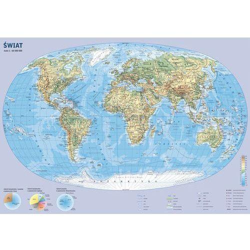 Świat mapa ścienna podręczna od SELKAR
