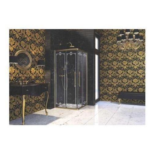 Huppe Enjoy Victorian Wejście narożnikowe, drzwi suwane 2-częsciowe - 90/195 Złoty mat Szkło Frozen EV010
