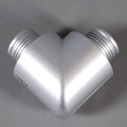Element narożny 90° dla Tube O srebrny