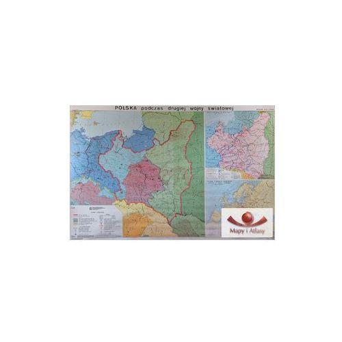 Polska podczas drugiej wojny światowej. Mapa ścienna, produkt marki Nowa Era