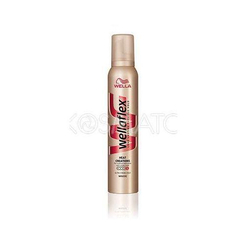 Produkt z kategorii- pozostałe kosmetyki do włosów - Wellaflex Heat Creations (Stylizacja Na Gorąco) Pianka, 200 ml