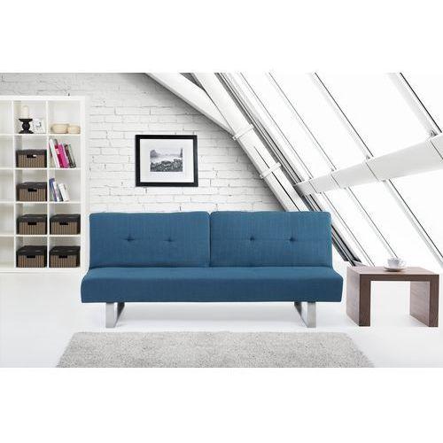 Rozkladana sofa ruchome oparcie - DUBLIN niebieski, Beliani