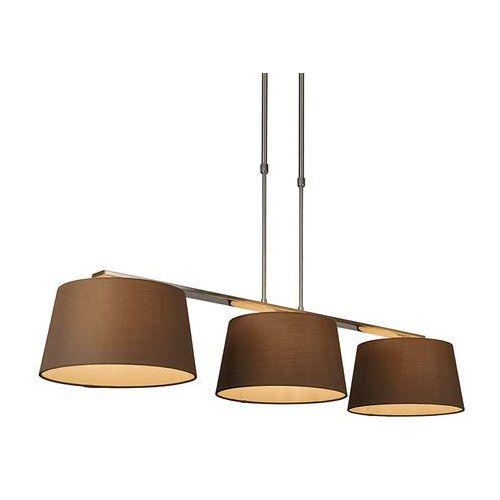 Lampa wisząca Combi Delux 3 klosz okrągły 30cm brązowy - sprawdź w lampyiswiatlo.pl