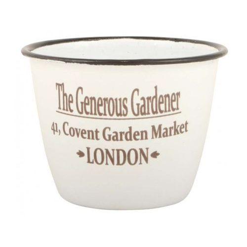 Doniczka Emaliowana z Napisem The Generous Gardener  0419-11, produkt marki Ib Laursen