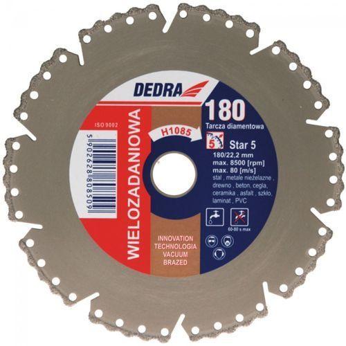 Tarcza do cięcia DEDRA H1085 180 x 22.2 mm Vacuum Braze diamentowa ze sklepu Media Expert